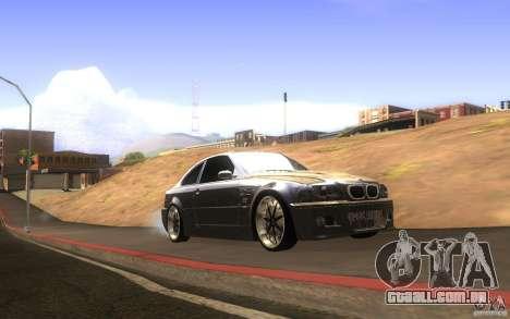 BMW M3 E46 V.I.P para GTA San Andreas vista interior