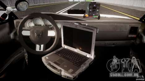 Dodge Charger NYPD 2012 [ELS] para GTA 4 vista direita