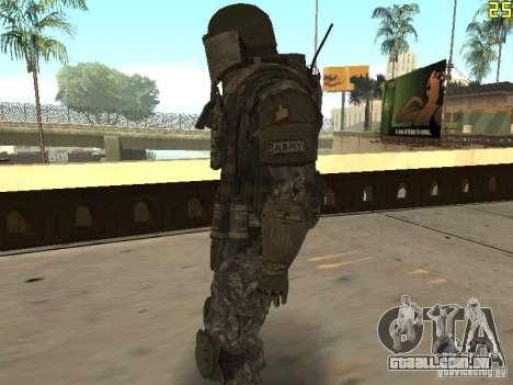 Combate de soldados de CoD: Mw2 para GTA San Andreas segunda tela