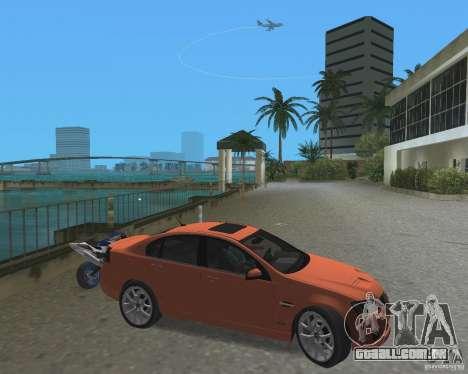 Pontiac G8 GXP para GTA Vice City deixou vista