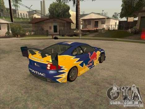 Pontiac GTO Red Bull para GTA San Andreas vista direita