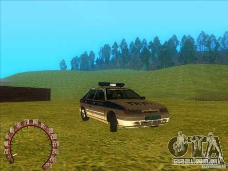 Ваз 2114 polícia russa para GTA San Andreas vista direita