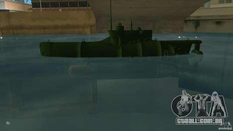 Seehund Midget Submarine skin 1 para GTA Vice City deixou vista
