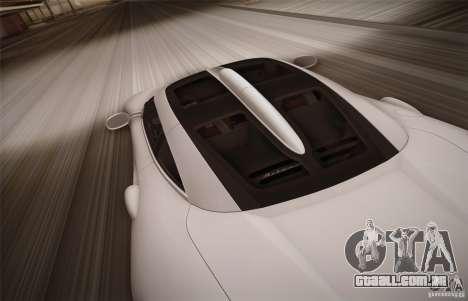 Spyker C8 Aileron para GTA San Andreas vista superior
