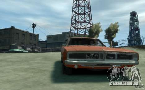 Dodge Charger General Lee v1.1 para GTA 4 vista de volta