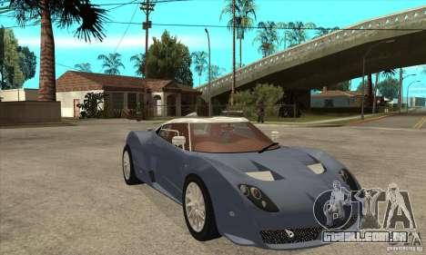 Spyker C12 Zagato para GTA San Andreas vista traseira
