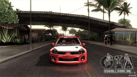 Renault Clio V6 Sport Track Car para GTA San Andreas esquerda vista