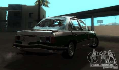 BMW E30 Sedan Police para GTA San Andreas vista direita
