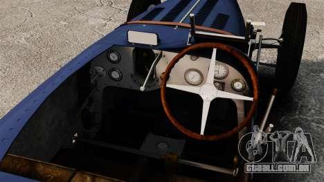 Bugatti Type 51 para GTA 4 vista de volta