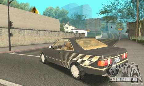 Mercedes-Benz W126 560SEC para GTA San Andreas vista interior