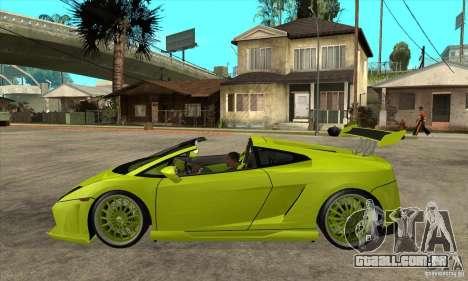 Lamborghini Gallardo LP560-4 Hamann para GTA San Andreas esquerda vista