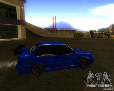 VAZ 2115 coupe para GTA San Andreas traseira esquerda vista