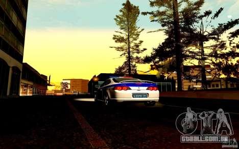 Acura RSX-S polícia para GTA San Andreas vista interior