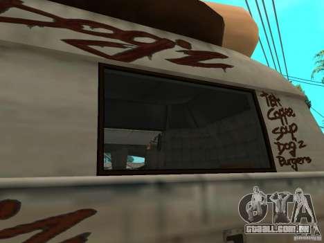 Limpar o vidro no cachorro-quente-e para GTA San Andreas vista direita