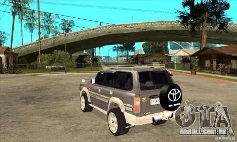 Toyota Land Cruiser 80 para GTA San Andreas traseira esquerda vista