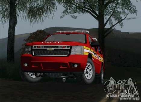 Chevrolet Suburban EMS Supervisor 862 para GTA San Andreas vista direita