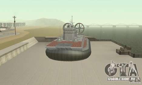 Hovercraft para GTA San Andreas vista direita