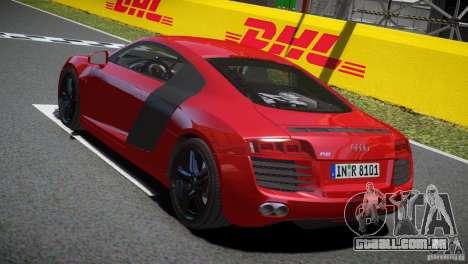 Audi R8 V8 2008 v2.0 para GTA 4 vista direita