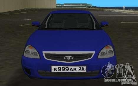 Lada 2170 Priora para GTA Vice City deixou vista