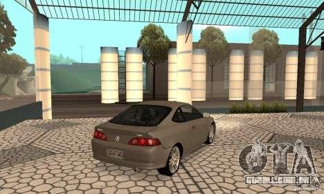 Acura RSX New para GTA San Andreas traseira esquerda vista