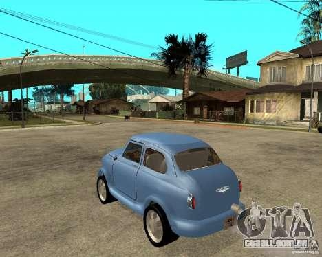 HotRod de 965 Zaporozhets ZAZ para GTA San Andreas esquerda vista