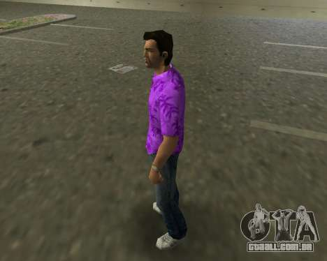 Camisa violeta para GTA Vice City segunda tela