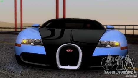 Bugatti Veyron 16.4 para GTA San Andreas vista superior