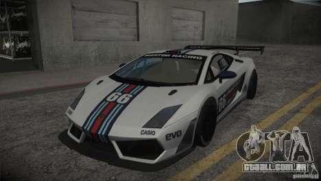 Lamborghini Gallardo LP560-4 GT3 para GTA San Andreas vista inferior