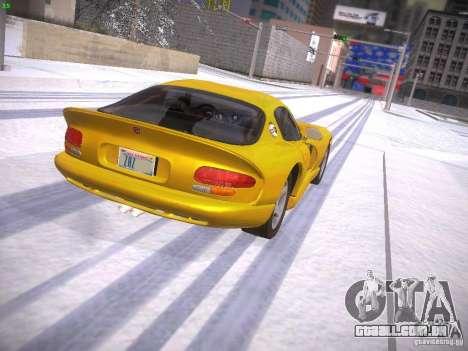 Dodge Viper 1996 para GTA San Andreas esquerda vista