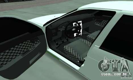 Lada Priora Low para vista lateral GTA San Andreas