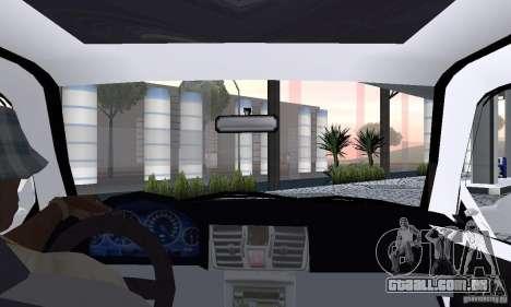 Volkswagen Jetta FnF para GTA San Andreas vista traseira
