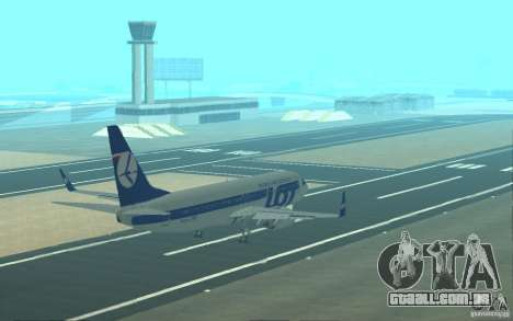 Boeing 737 LOT Polish Airlines para o motor de GTA San Andreas