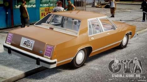 Ford Crown Victoria 1983 para GTA 4 traseira esquerda vista