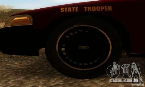 Ford Crown Victoria Minnesota Police para GTA San Andreas traseira esquerda vista
