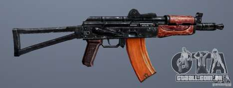 AKS74U para GTA San Andreas por diante tela
