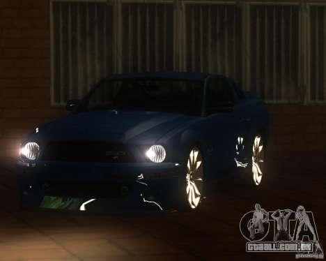 Shelby Mustang 2009 para GTA San Andreas traseira esquerda vista
