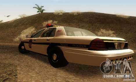 Ford Crown Victoria Pennsylvania Police para GTA San Andreas esquerda vista