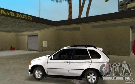 BMW X5 para GTA Vice City deixou vista
