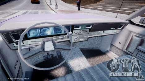 Chevrolet Impala Police 1983 v2.0 para GTA 4 vista de volta