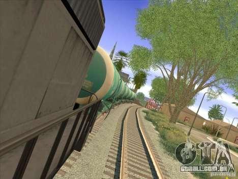 N. º 517 94592 do tanque para GTA San Andreas traseira esquerda vista