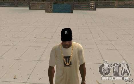 Cap newyorkyankiys preto para GTA San Andreas segunda tela