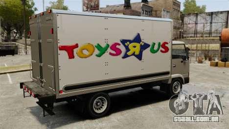 Novos anúncios para o caminhão, mula para GTA 4 vista interior