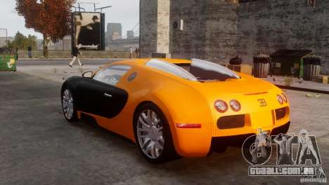 Bugatti Veyron 16.4 para GTA 4 vista direita