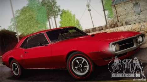 Pontiac Firebird 400 (2337) 1968 para as rodas de GTA San Andreas