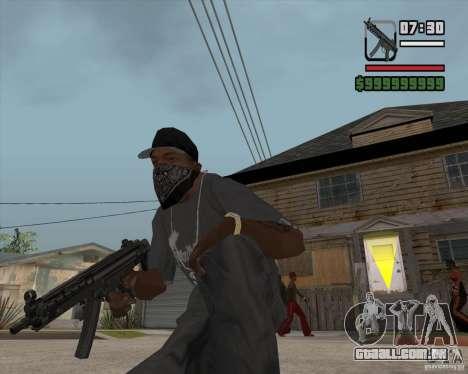 New MP5 (Submachine gun) para GTA San Andreas terceira tela
