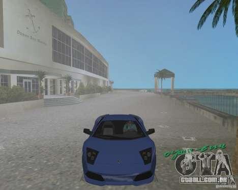 Lamborghini Murcielago LP640 para GTA Vice City vista direita