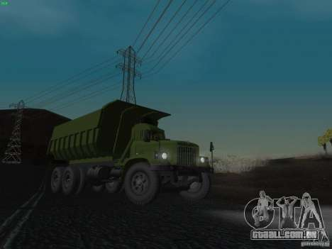 KrAZ-256b1-030 para GTA San Andreas interior