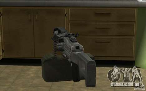 PKP Pecheneg metralhadora para GTA San Andreas por diante tela