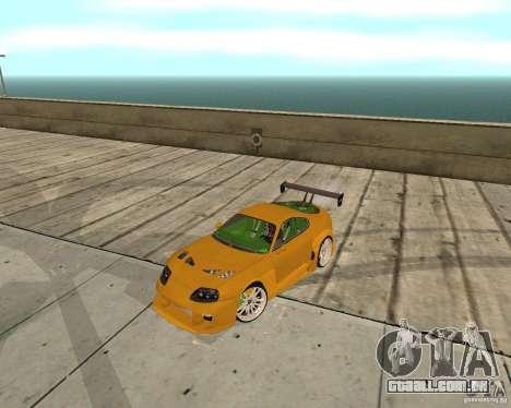 Toyota Supra TwinTurbo para GTA San Andreas vista interior