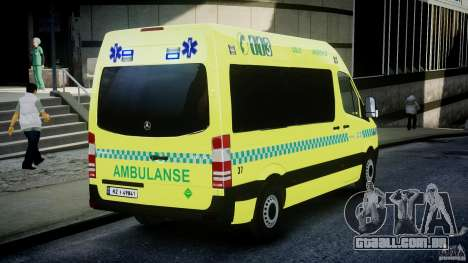 Mercedes-Benz Sprinter PK731 Ambulance [ELS] para GTA 4 vista lateral